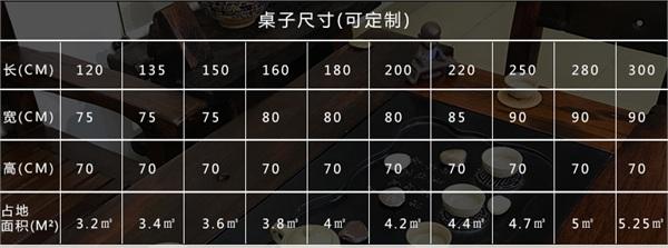华韦家具店 新中式复古茶台