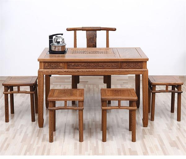 艺铭天下旗舰店 小户型实木中式泡茶桌