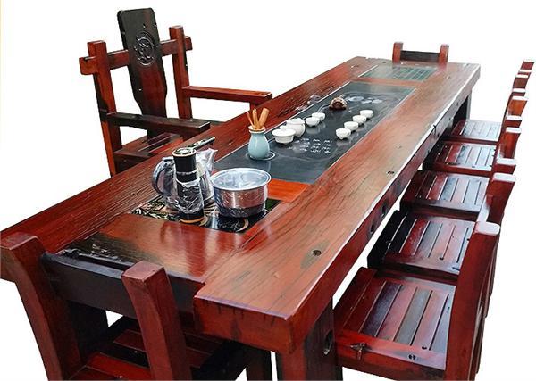 尚雅轩船木古典家私厂 中式仿古实木功夫茶几