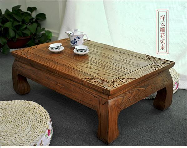 林枫木艺 老榆木炕桌