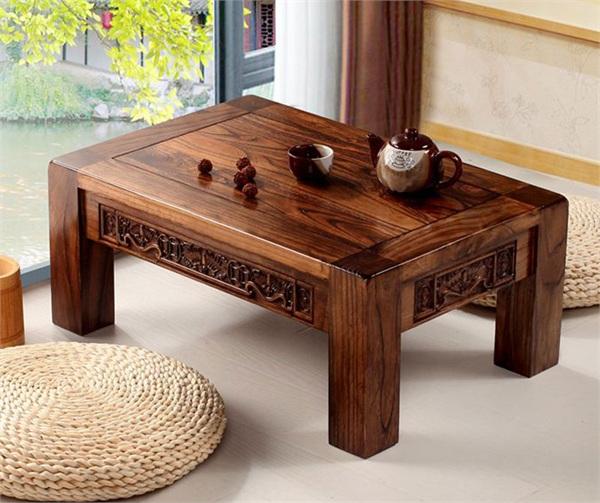 金福缘家居 仿古老榆木炕桌