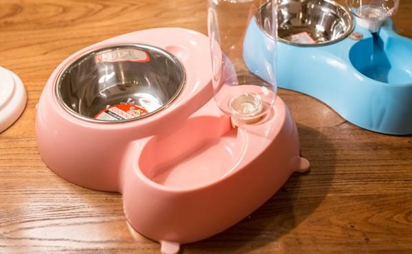 双碗自动饮水防滑宠物饭盆