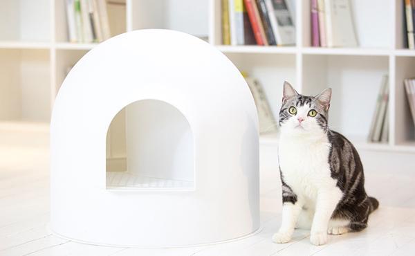 pidan 雪屋单层半封闭式猫砂盆