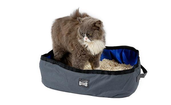多乐米 便携式可折叠猫砂盆