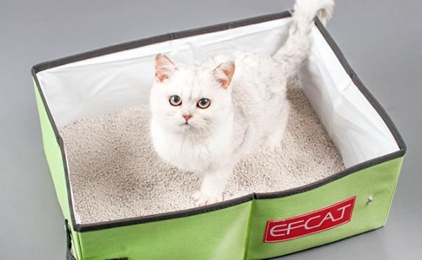 EFCAT 便携式可折叠猫砂盆