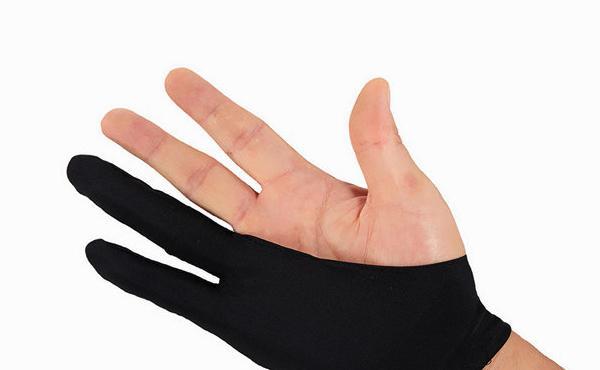 晴泽 防误触绘画专业二指手套