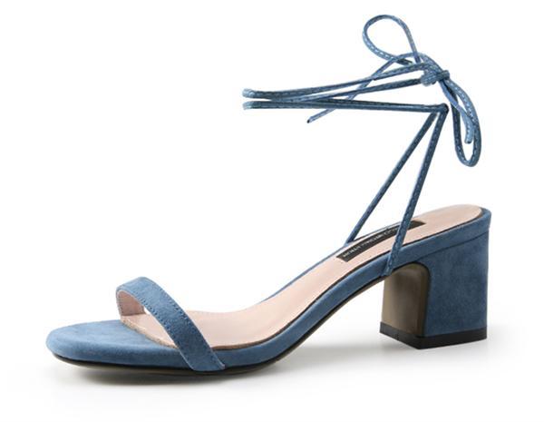 黄小恩高端定制女鞋 真皮一字带凉鞋