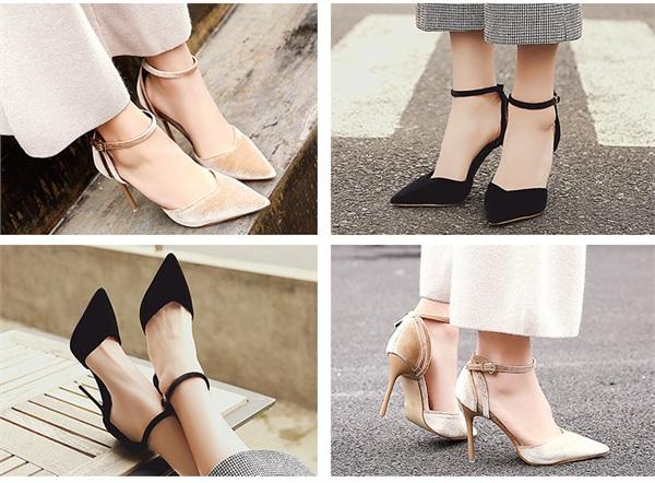 卡卡妮亚 一字带高跟凉鞋