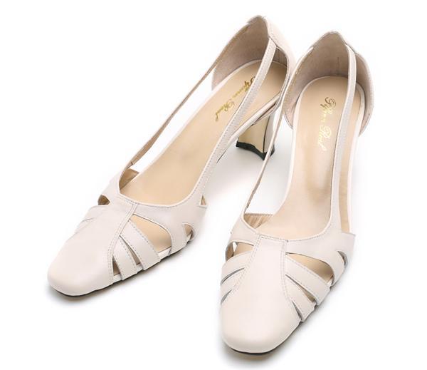 Plfann Real 复古镂空粗跟包头凉鞋