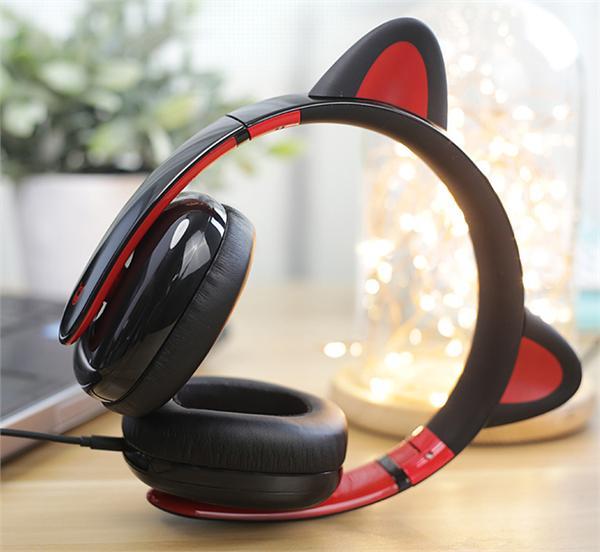 AIbaasaa/艾芭莎 CB-MOE1-P双猫耳无线蓝牙耳机