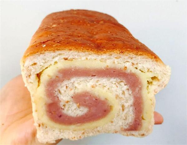 快乐时光饼屋 芋薯奶酥吐司面包全麦无添加低糖油