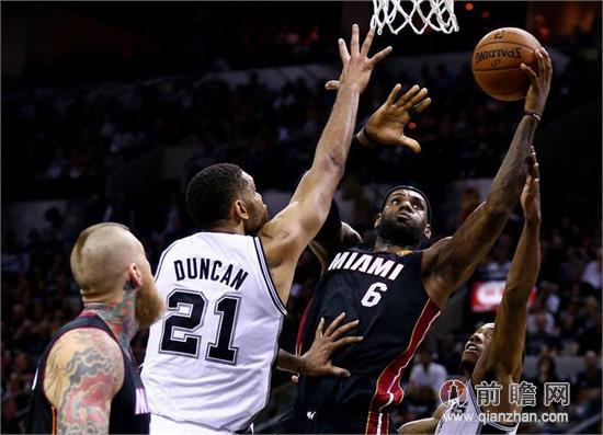 NBA总决赛第二场热火VS马刺录像 三巨头67分胜GDP58分 波什关键图片