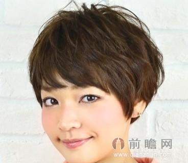 圆脸女生适合显瘦短发 2014秋季流行发型图片