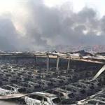 爆炸毁灭了天津滨海新区的奇迹形象