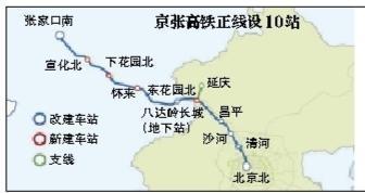 京张高铁总投资达到584.1亿 全长174公里