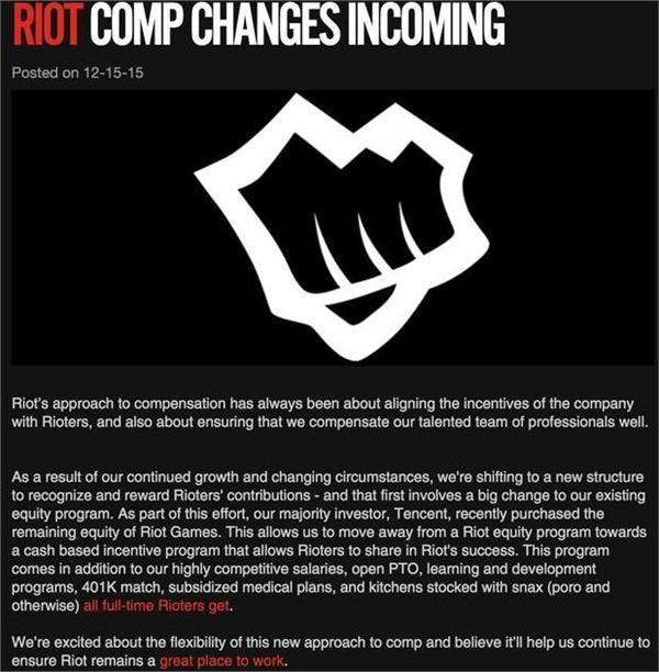 腾讯全资收购LOL英雄联盟开发商Riot Games