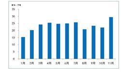 11月丙烯<em>进口量</em>刷新记录 全年进口将达280万吨