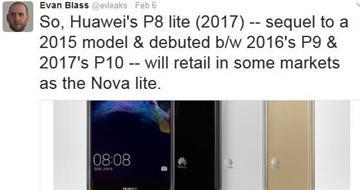 华为P8 lite 2017国行版爆料:更名叫Nova lite