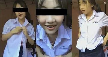泰国女生穿校服直播脱衣舞 引起网友大骂
