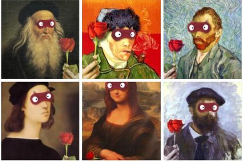 蒙眼玫瑰示爱