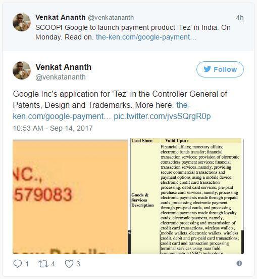 """谷歌计划在印度推出一项全新的支付服务""""Tez"""" 可能很快闯进其他东南亚国家"""