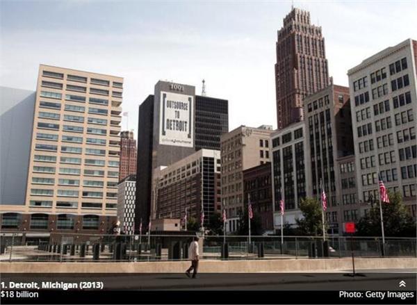 多座美城市将面临破产 这几个城市最危险居民可能要另找新家