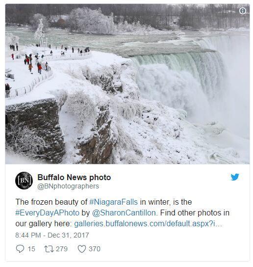 冰天雪地!美国公园现冰火山奇景 连瀑布也瞬间结冰美呆众人