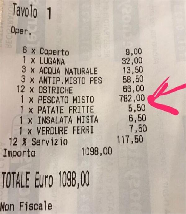 威尼斯现天价账单