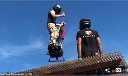 秒变超人!法国男子发明体感飞行器自在飞翔 最高时速可达130公里