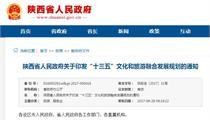 陕西文化旅游产业政策