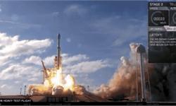 里程碑!<em>SpaceX</em>猎鹰重型发射成功 载着马斯克的红色特斯拉跑车一飞冲天
