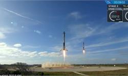 遗憾!猎鹰重型火箭中央助推器回收失败摔成碎片 未能完美收官