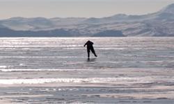 老当益壮!76岁奶奶溜冰照顾牛群 每天5点半起床带牛去贝加尔湖散步