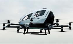 全球首款可载客无人驾驶飞行器试飞