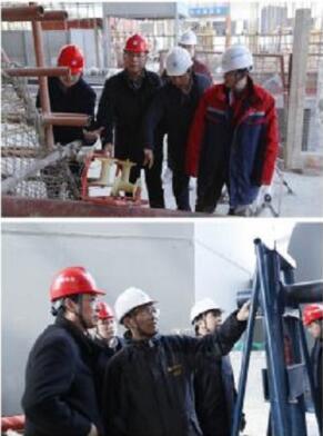 远东电缆技术研发团队在中国尊大厦内部进行现场技术服务