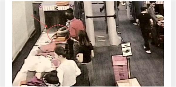 机场安检员偷现金