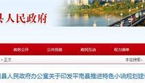 平南县特色小镇政策