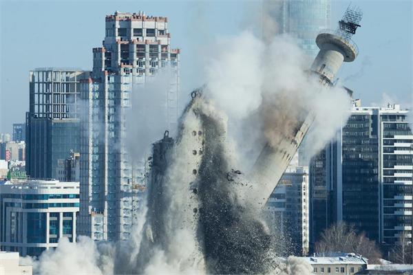 27年的记忆!俄拆除烂尾电视塔 世界杯将近以溜冰场取而代之