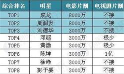 中国演员片酬排行曝光,电影产业的发展与投资机会几何?
