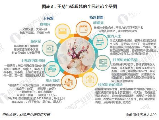图表3:王菊与杨超越的全民讨论全景图