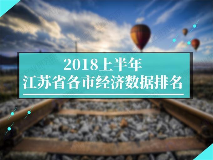 数据热|2018上半年江苏省各市经济成绩单:苏州GDP突破9000亿元高居榜首