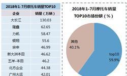 2018年摩托车行业发展现状分析 销量TOP10企业国内市场份额略有下降,出口TOP5车型高度集中