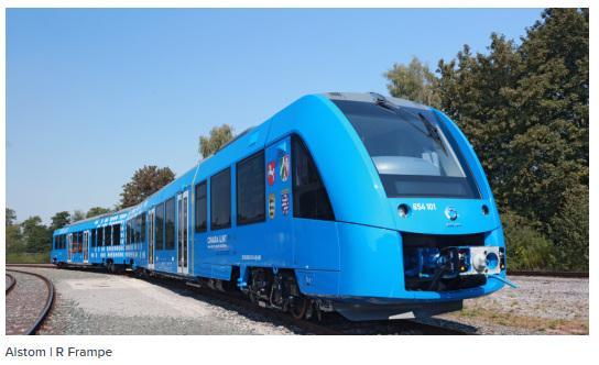 世界首列氢动力列车投入运营时速140公里 铁路运输迎来无排放新纪元