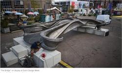 世界第一座3D打印钢桥亮相荷兰设计周 全长40英尺且配备传感器网络和钢甲板