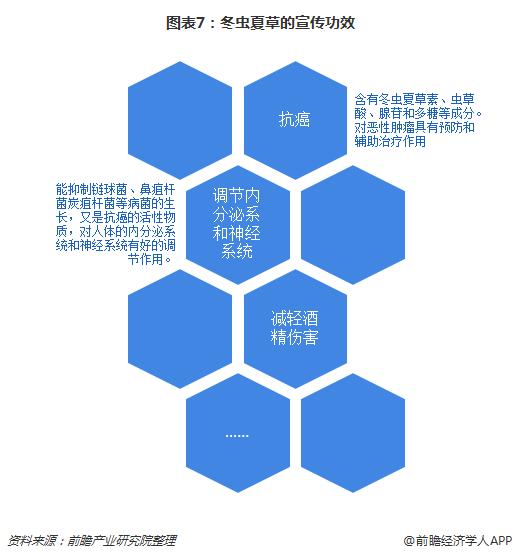 图表7:冬虫夏草的宣传功效