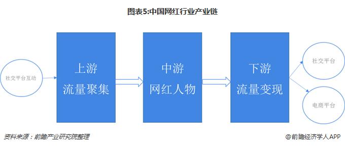 图表5:中国网红行业产业链