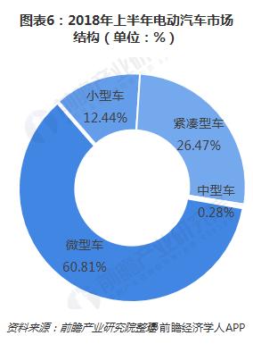 图表6:2018年上半年电动汽车市场结构(单位:%)