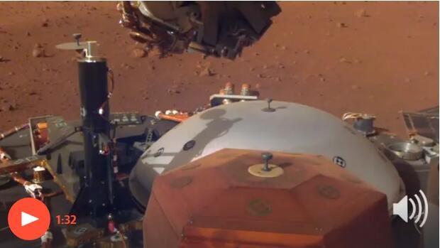 """嘘,仔细听!""""洞察号""""传回史上第一条火星风声 就像炎炎夏日午后风声"""