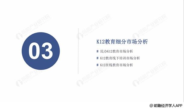 K12教育細分市場分析