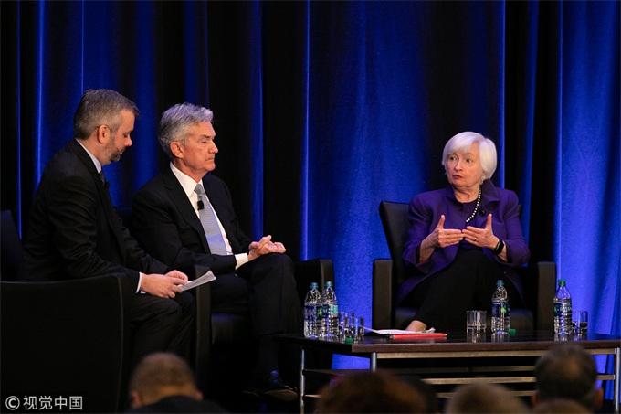 鲍威尔承认面临下行风险,将对货币政策保持耐心和灵活性
